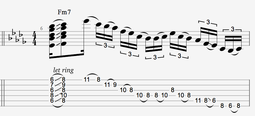 D\'Angelo Guitar Tab - Advanced R&B/Gospel/Soul Lesson