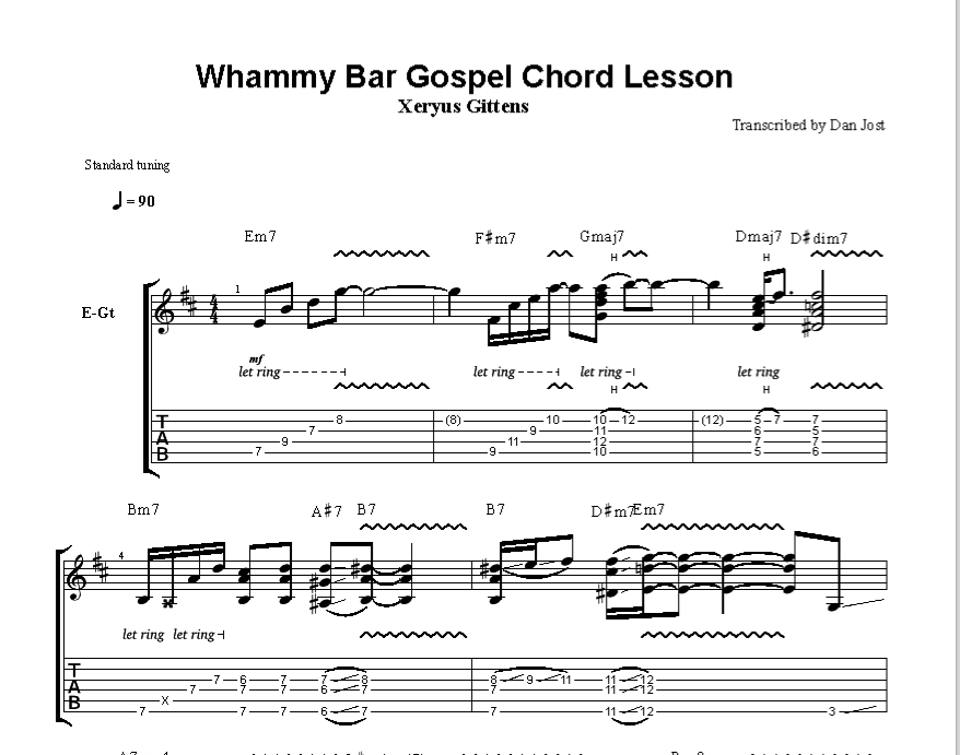 whammy bar gospel lesson